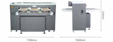stampante digitale dtg m6 dimensioni